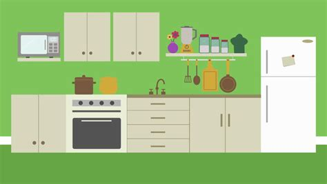 Animated Kitchen Pictures by Style Room Stock Footage 1887634