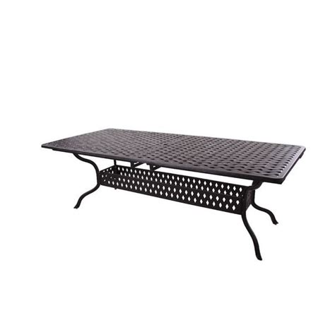Patio Table Extendable Darlee Series 30 Extendable Patio Dining Table In Antique