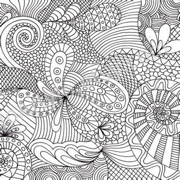 coloring page zentangle coloring page printable zentangle inspired pattern by joartyjo
