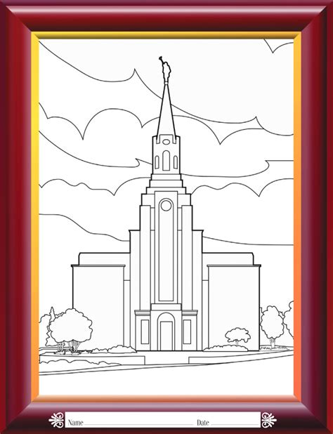 Coloring Pages Lds Temple Coloring Pages
