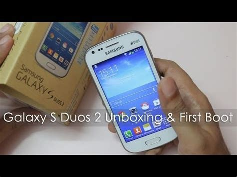 samsung galaxy s duos 2 unboxing boot overview