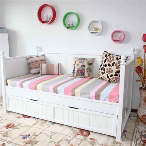 Single Bed Frames Sydney Single Size Day Bed In White With Trundle Bed Buy Single Beds
