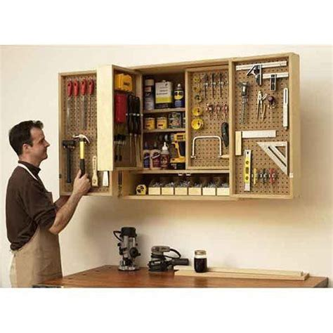woodworking tool storage plans wall mounted multi layer tool cabinet diy organize your