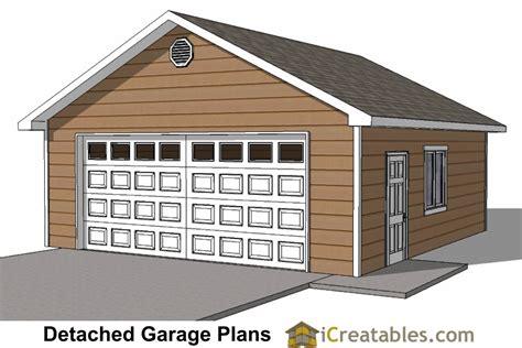 build a garage plans 24x26 2 car 1 door detached garage plans