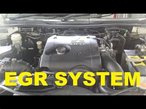 exhaust gas recirculation system cleaning pajero sport