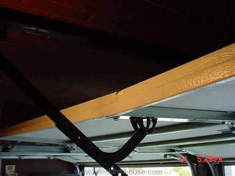 Garage Door Reinforcement Bar by Garage Door Opener Safety Manual Bottom Line