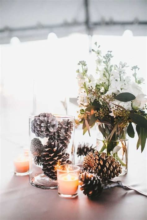 Winter Wedding with DIY Details   Wedding Centerpiece