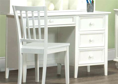 small white writing desks desk finish with single drawer