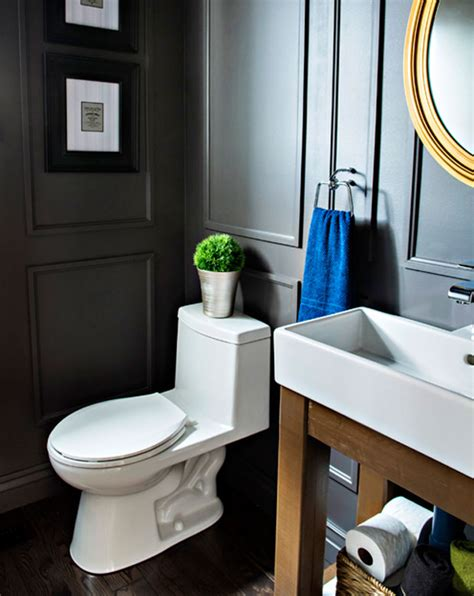 get drenched in the gorgeous bathroom interiors for an reveal dated powder room gets a moody makeover pink