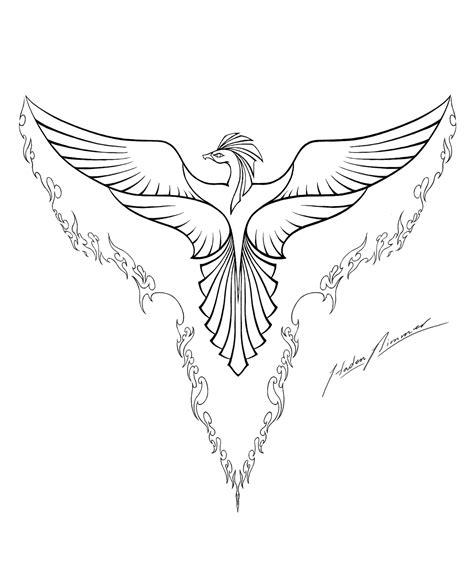 coloring pages phoenix bird phoenix lineart by hadenjax on deviantart