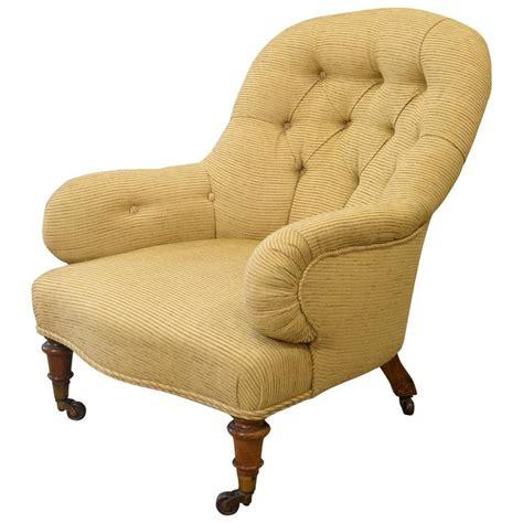 deep armchair victorian deep buttoned back armchair at 1stdibs