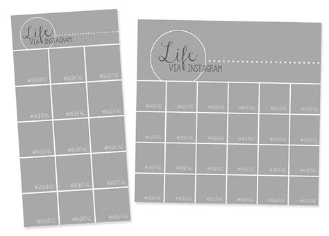 instagram collage templates for use with project life 174
