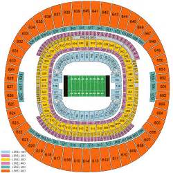 Mercedes Superdome Football Seating Chart New Orleans Saints January 23 Tickets New Orleans