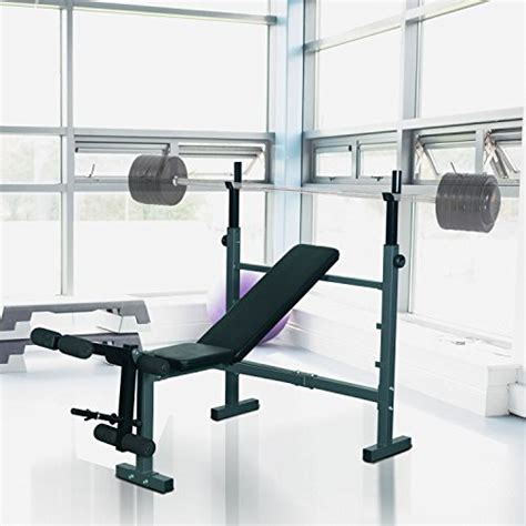 weight bench clearance soozier adjustable olympic flat weight bench with leg