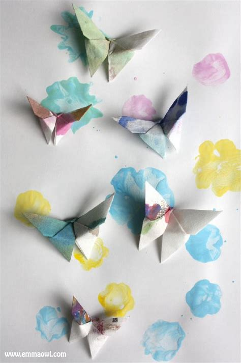 Beautiful Paper Crafts - origami butterflies beautiful craft for everyone paper