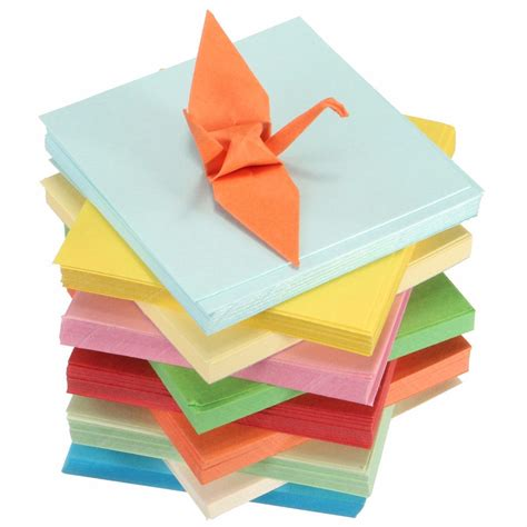 Folded Square Origami Paper - diy square sided origami folding lucky wish paper