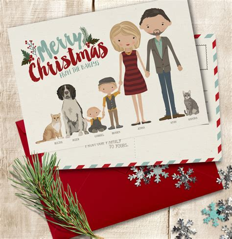 christmas card add on personalized holiday card custom