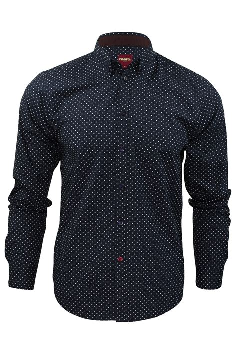 Oz Sweater Polka Abu mens polka dot shirt by merc siegel sleeved ebay