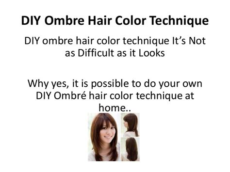 diy ombre hair color technique