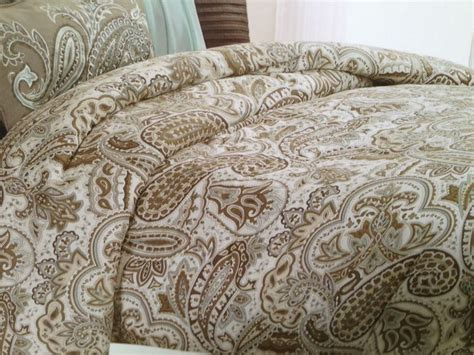 blue  brown paisley bedding bella lux paisley blue