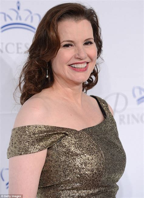 actress kelley davis geena davis 56 ditches casual skirt and shirt to channel