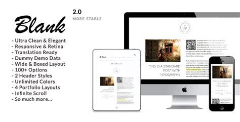 Jekyll Empty Layout | blank elegant minimalist wordpress blog theme by