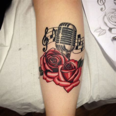 microphone rose tattoo 17 best ideas about microphone on mic