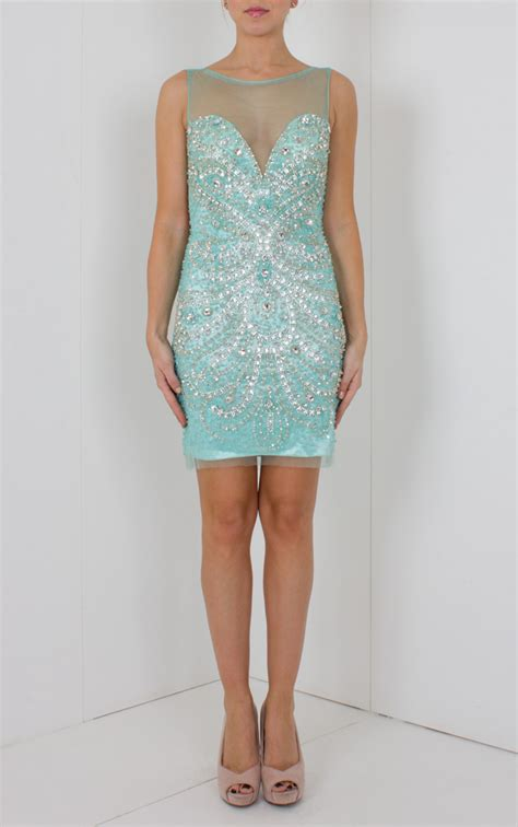 Short Light Blue Dress by Jovani Crystal Short Dress Light Blue Women Dresses
