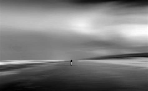 walking   sea  clouds scene