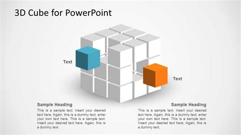 3d Cube Shape For Powerpoint Slidemodel Powerpoint Cube Template