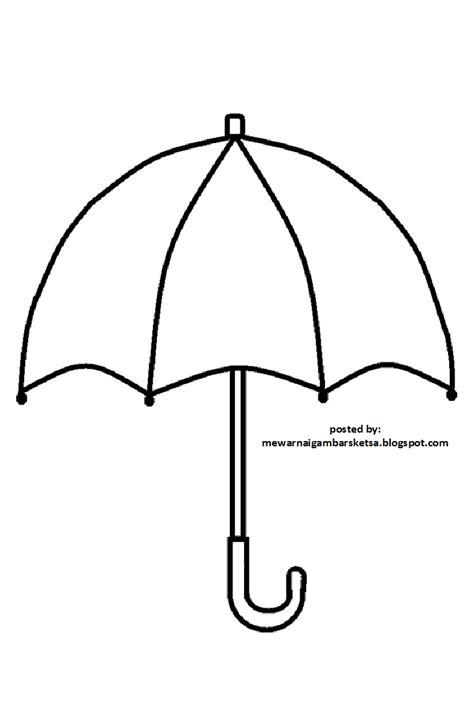 Mewarnai Gambar: Mewarnai Gambar Sketsa Payung 1