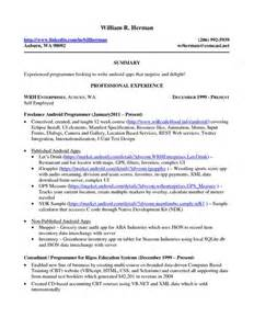home resume and business on