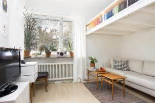 loft bed studio apartment small swedish studio apartment elegantly combines loft bed