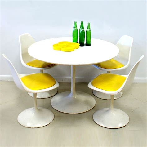 burke inc tulip chair burke inc 60s tulip table and 4 chairs set fab
