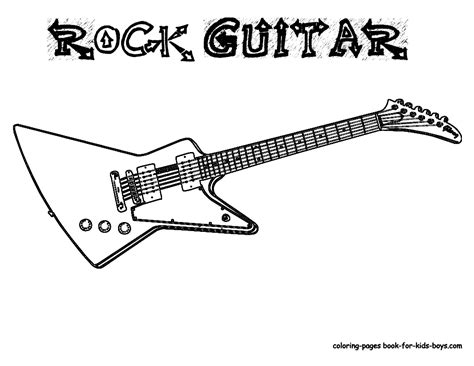 coloring page guitar gritty guitar coloring free electric guitar