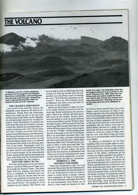 Mis Vs Mba Degree Forums by Herbold Vs The Volcano Mba October 1991 Part 1