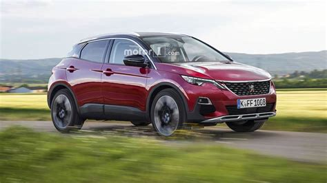 peugeot 1008 used peugeot 1008 render imagines a tiny crossover with a