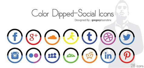 social media colors 50 absolutely free social media icons sets