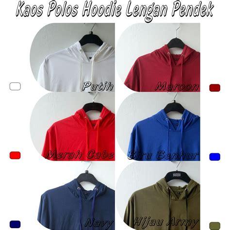 Kaos Tangan Pendek Polos kaos polos hoodie kupluk tangan pendek unisex combed 30s