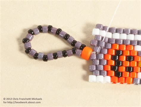Easy Bead And Loop Clasp For A Peyote Stitch Bracelet