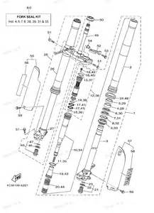 2007 yz250 yz250w1 yamaha motorcycle front fork diagram