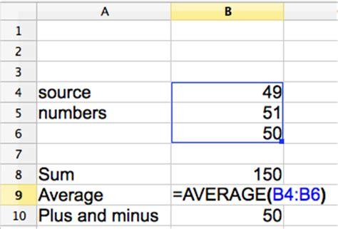 Average Spreadsheet by Creating Basic Functions In A Spreadsheet Luigi Benetton