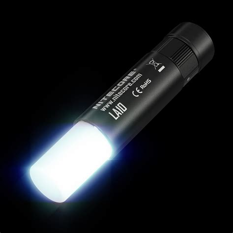 Nitecore La10 Cri Senter Lantera Mini 360 Derajat 85 Lumens Hitam flash lights flashlights