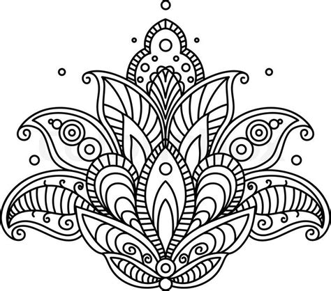draw a pattern using flower as motif stock vector of pretty ornate paisley flower design