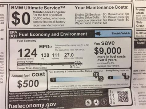 Bmw I3 Sticker Price by 2014 Bmw I3 Electric Car Rated At 81 Miles 124 Mpge Breaking