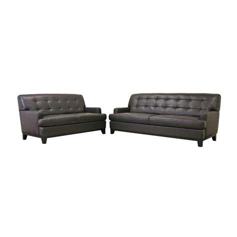 cheap leather sofa and loveseat wholesale interiors adair leather loveseat and sofa set