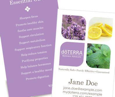 free doterra business cards template doterra business cards doterra and business cards on