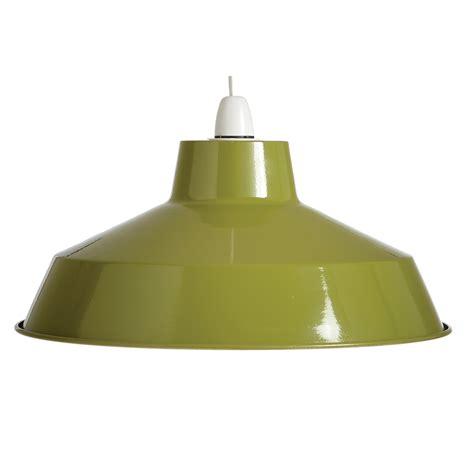 large dual fitting pluto metal lighting pendant shades green