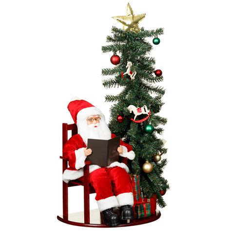 santa claus christmas tree led decoration xmas b m