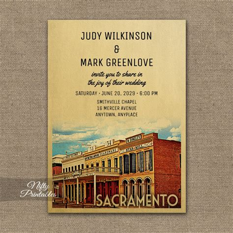 Wedding Invitations Sacramento by Sacramento California Wedding Invitation Printed Nifty
